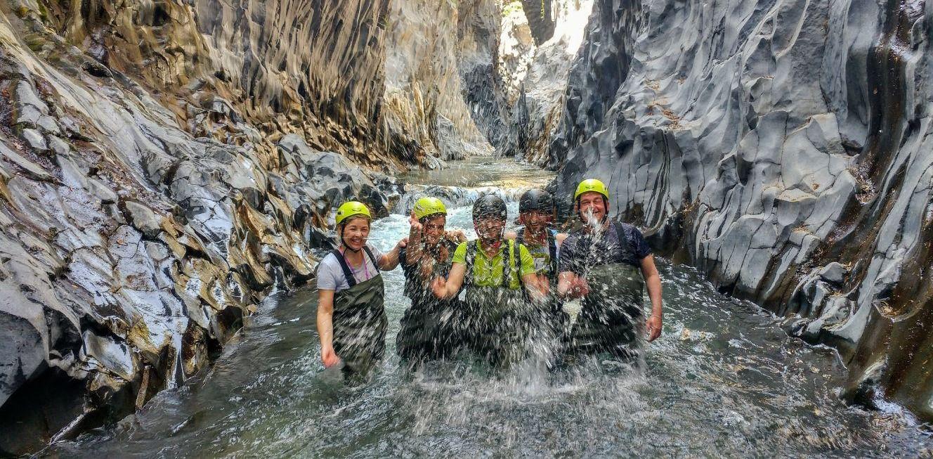 Trekking fluviale alle Gole dell'Alcantara