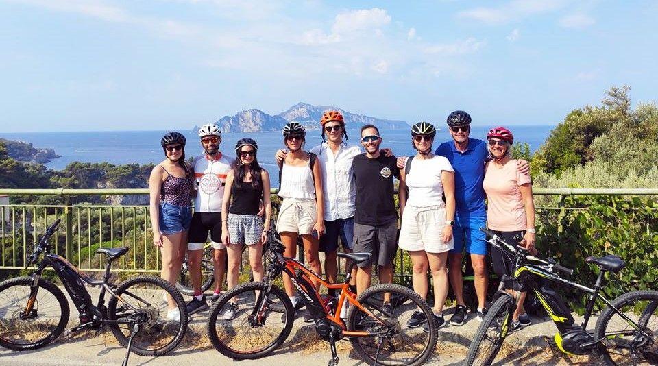 Bike tour con degustazione a Punta Campanella