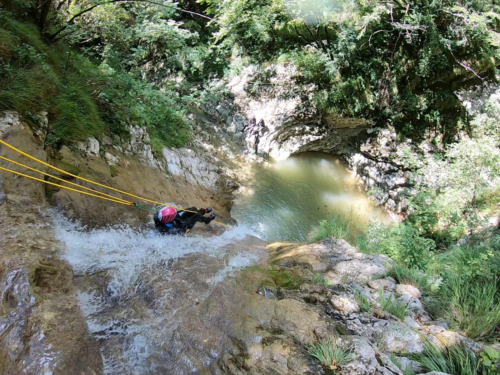 Canyoning Fun nel torrente Vione sul Lago di Garda