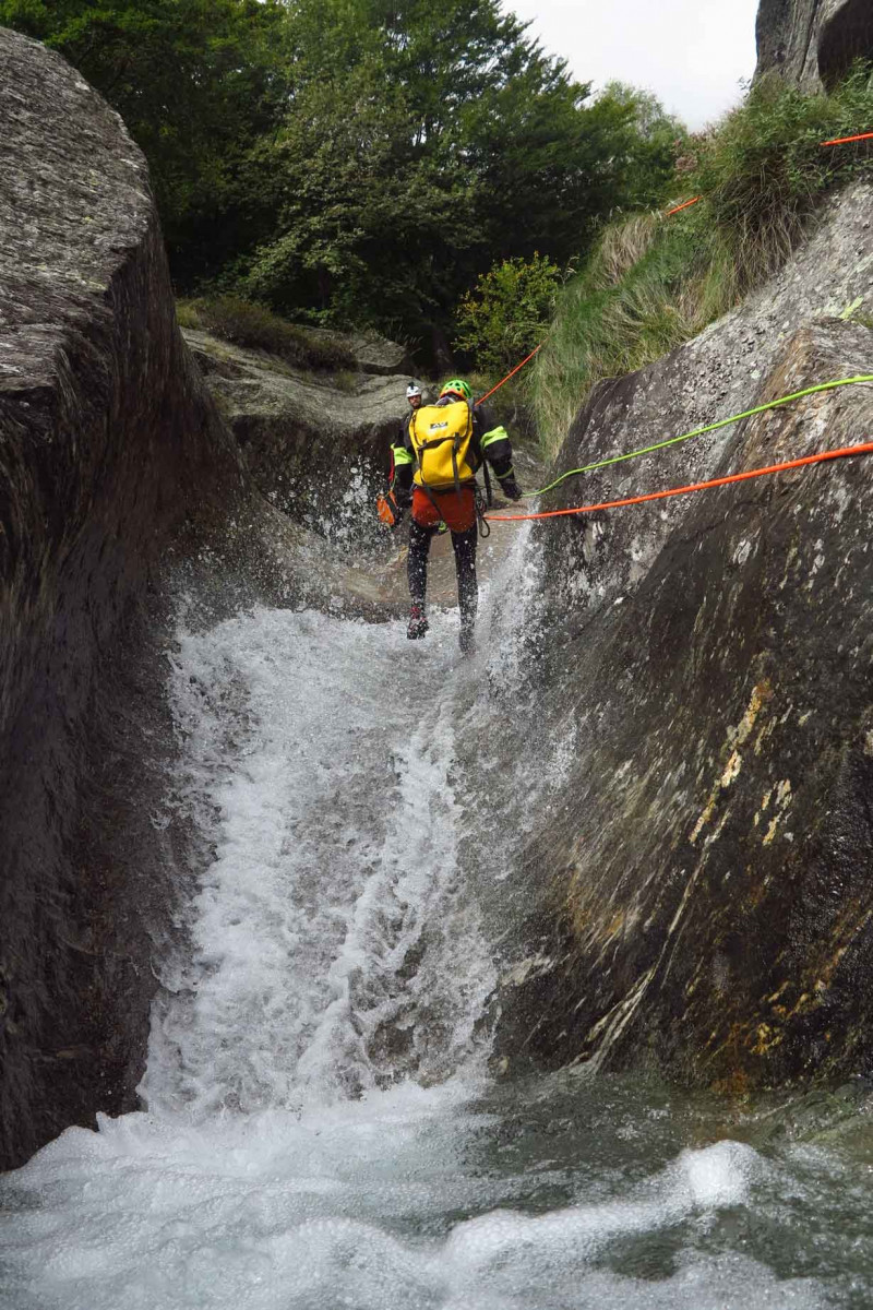 Canyoning a Mondelli Ossola in Piemonte