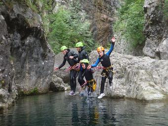 Canyoning per famiglie