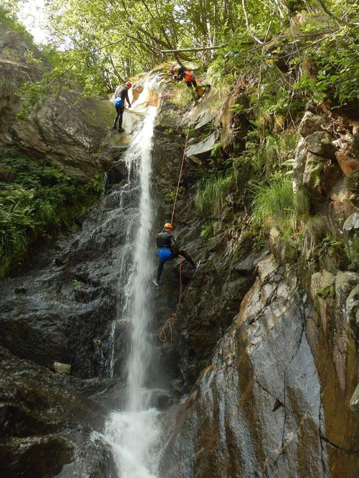 Canyoning Rio Lasino Inferiore in provincia di Verbania