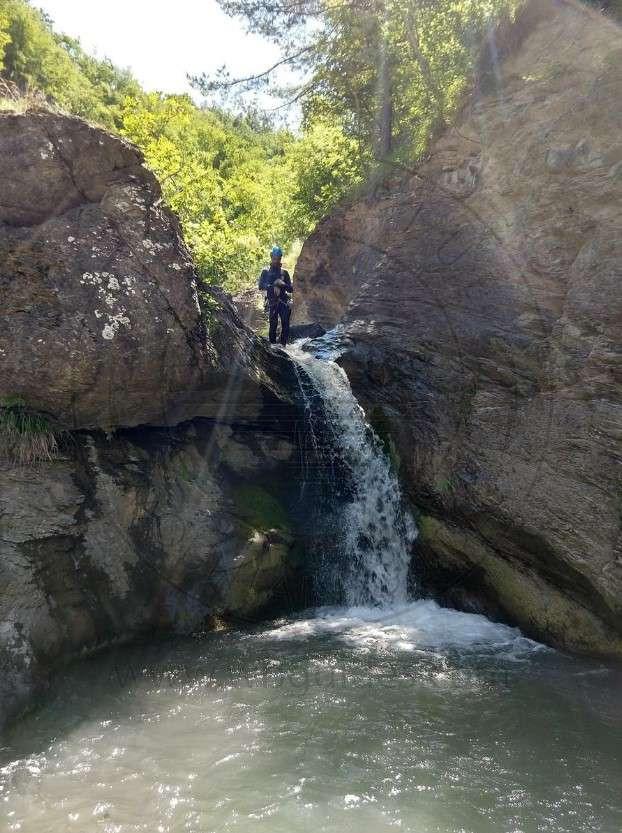 Canyoning Rio Lezza nell'Appennino Modenese