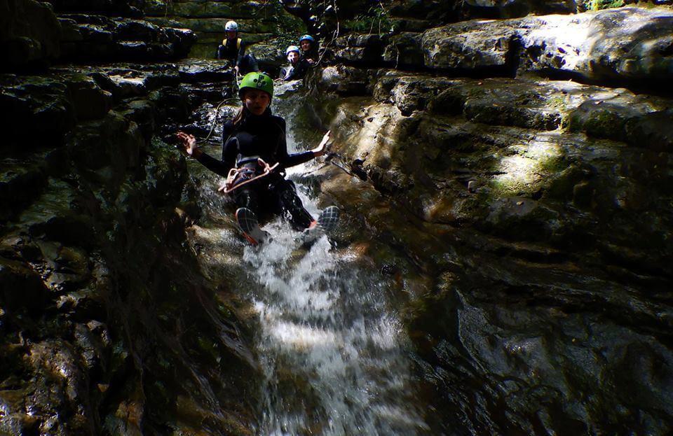 Canyoning in Trentino al Rio Nero Valle di Ledro