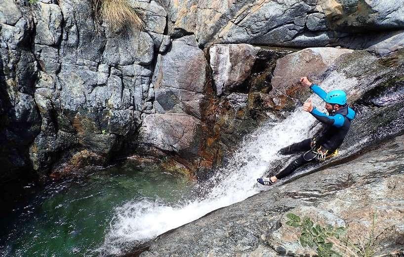 Canyoning Rio Santa Lucia in provincia di Imperia