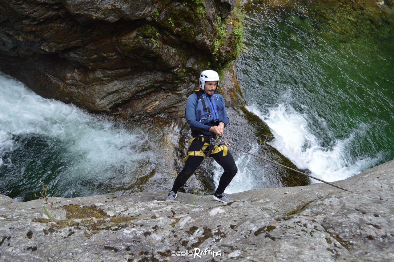 Canyoning Sorba in Valsesia Piemonte