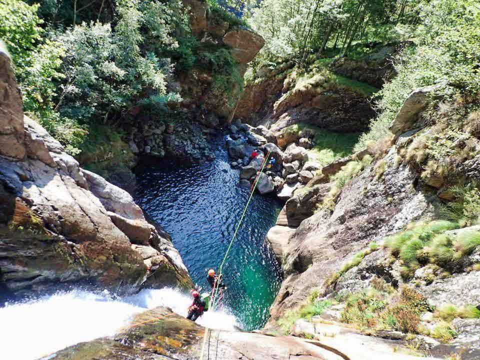 Canyoning a Sorba Valsesia in Piemonte