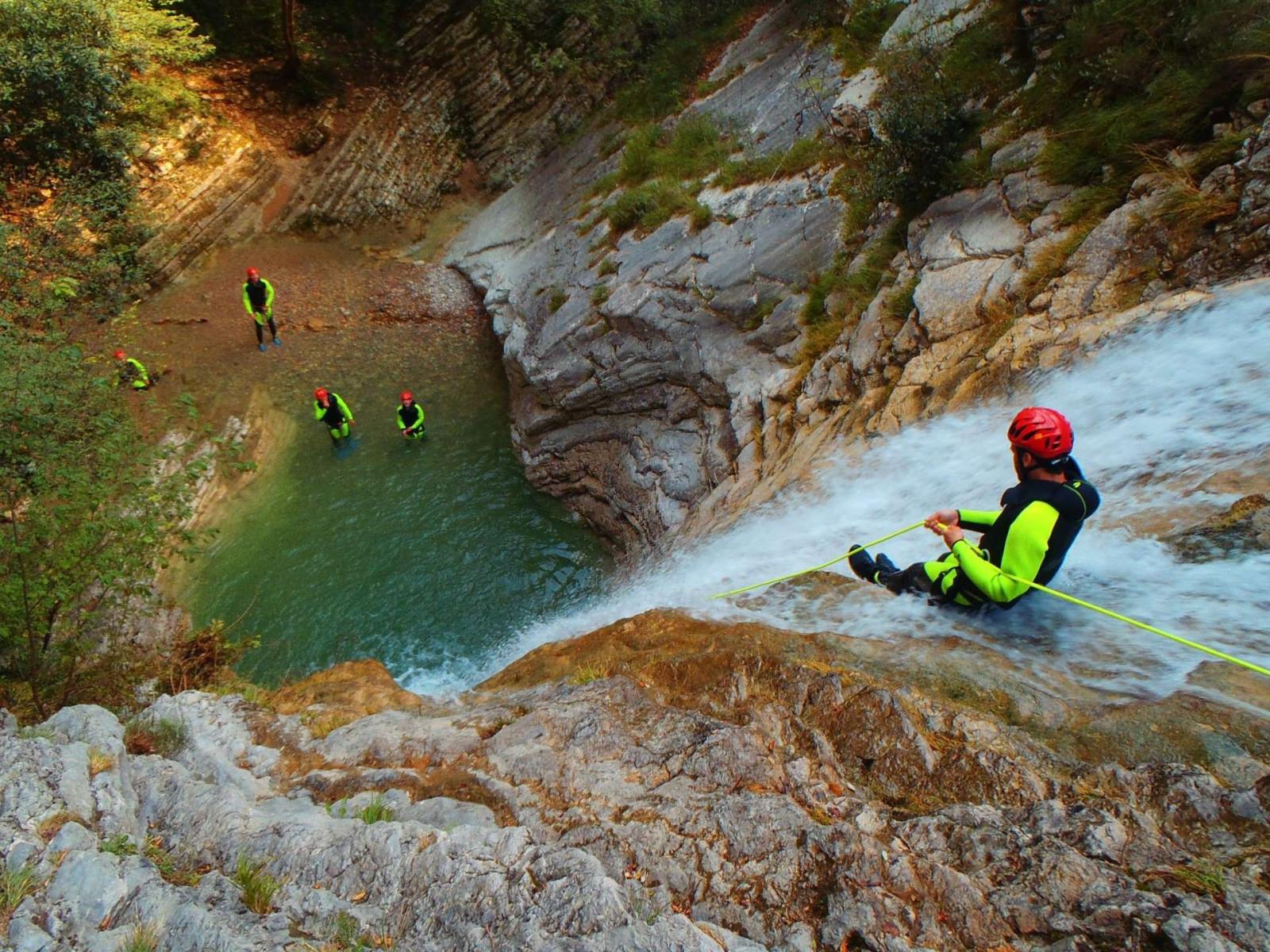 Canyoning per sportivi sul Lago di Garda - Torrente di