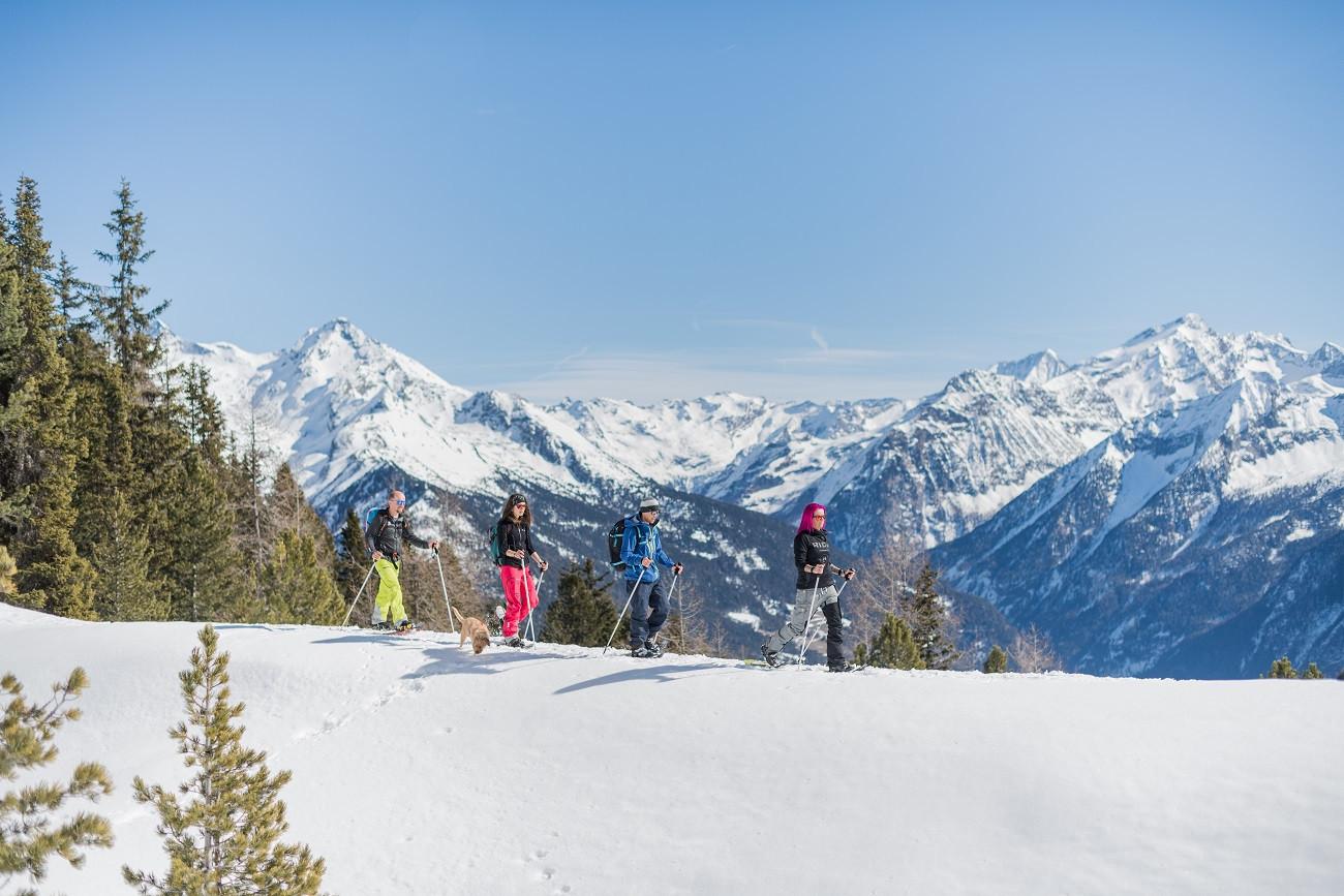 Ciaspolata a Riva di Tures in Alto Adige