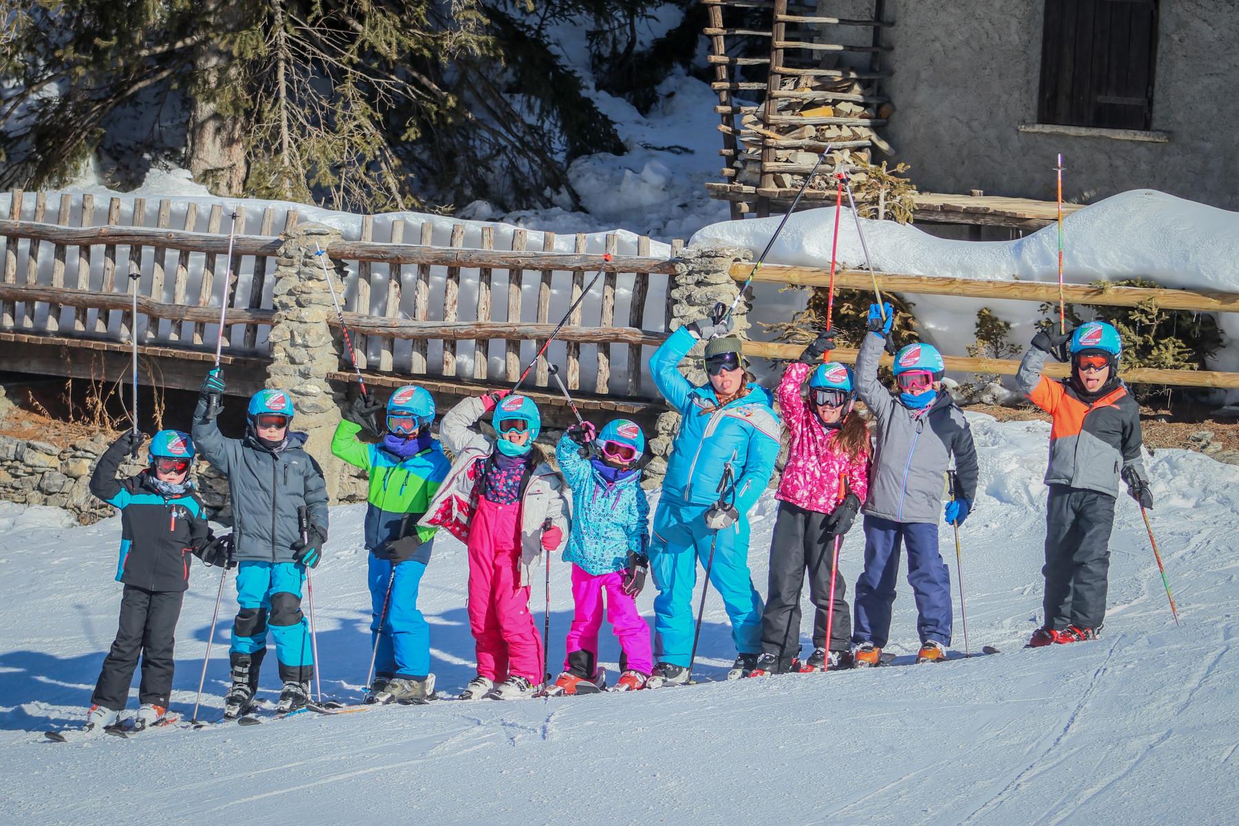 Corso collettivo di sci per bambini a Sauze d'Oulx