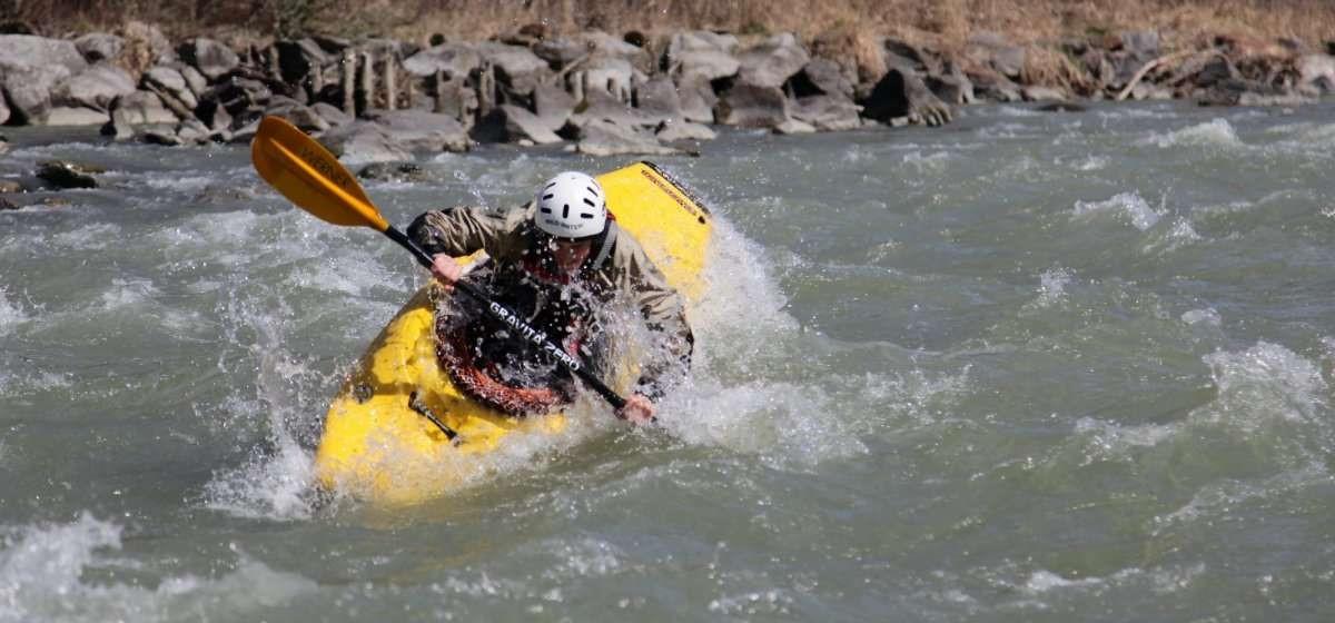 Corso di river kayak da 5 lezioni individuali sull'Adda in Valtellina