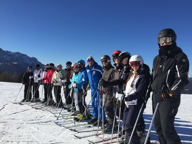 Corso di sci di gruppo per adulti principianti a Dobbiaco