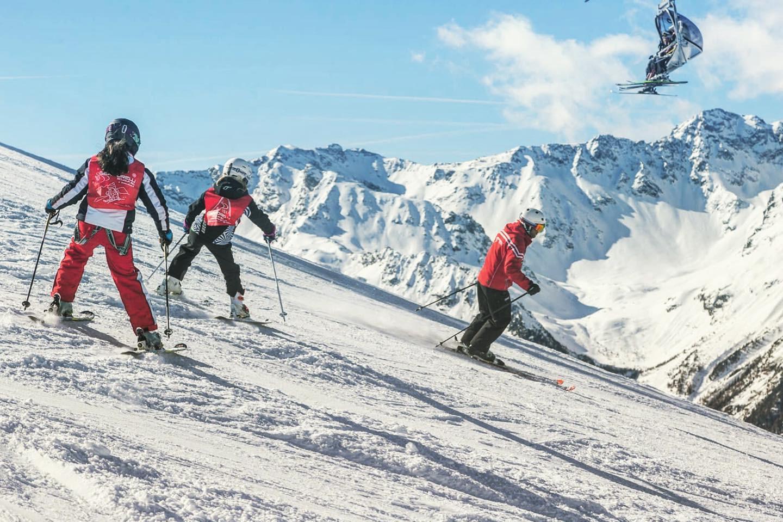 Corso di sci di gruppo per bambini a Bormio