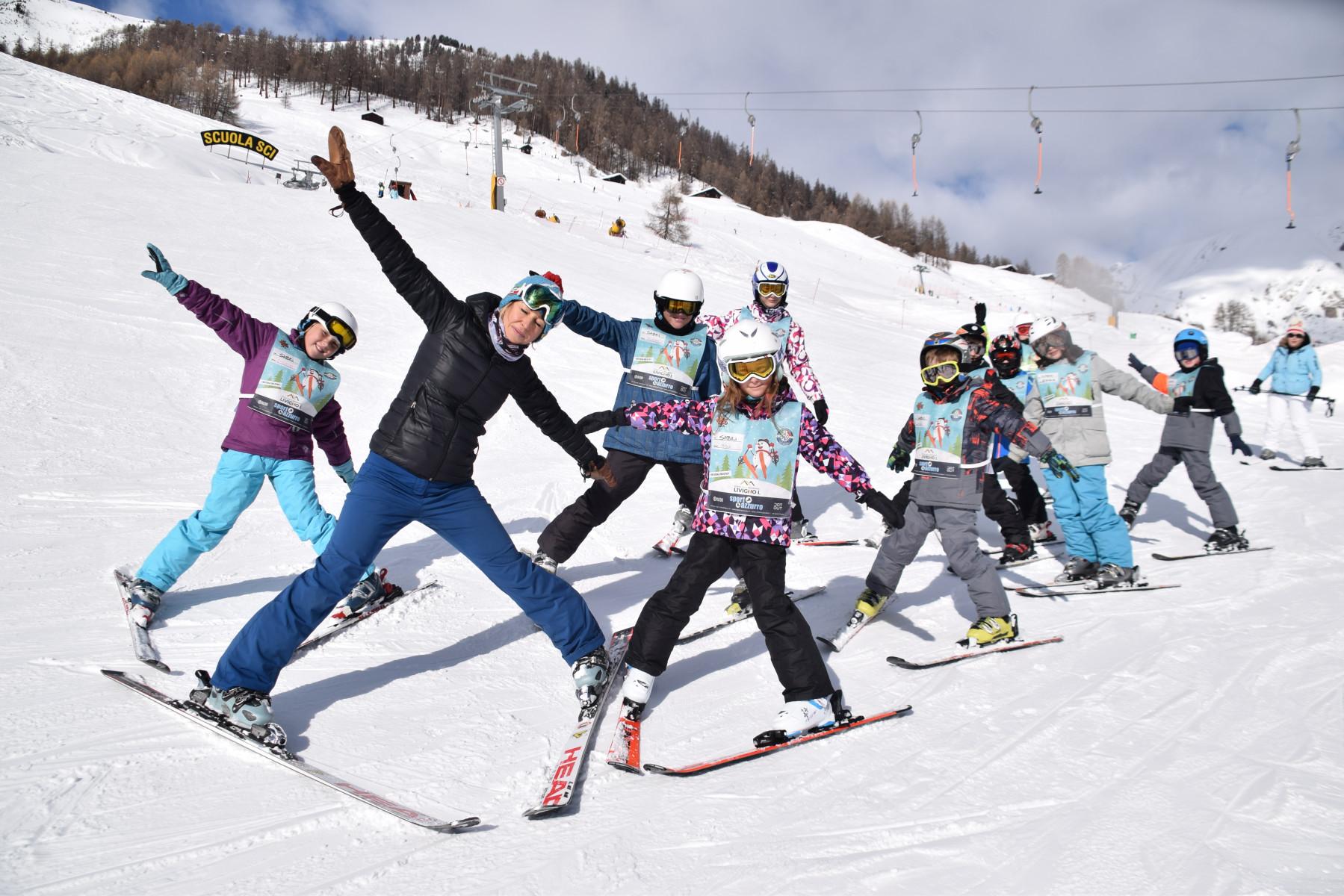 Corso di sci di gruppo per bambini a Livigno