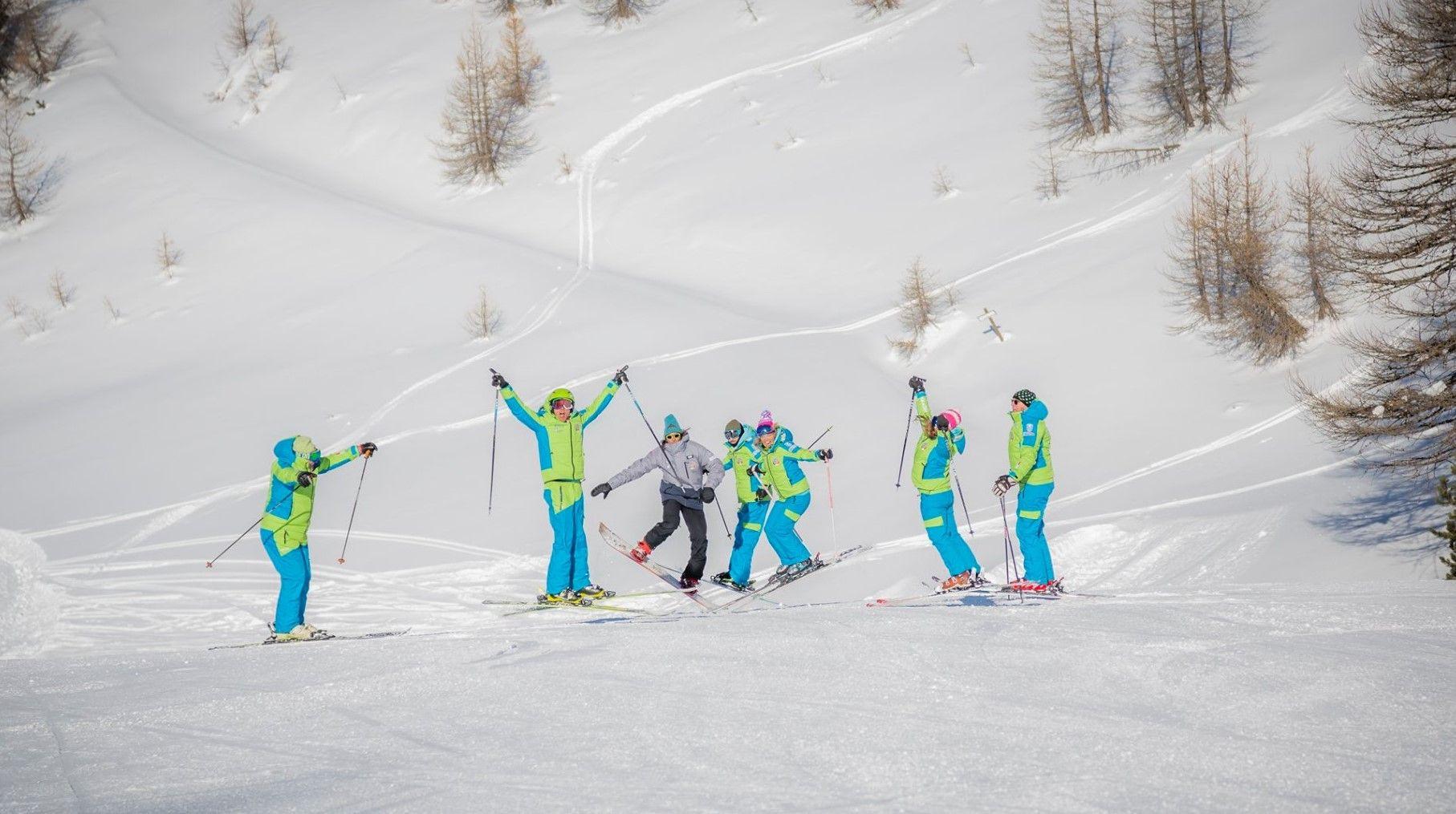 Corso di sci nel weekend per adulti a Claviere