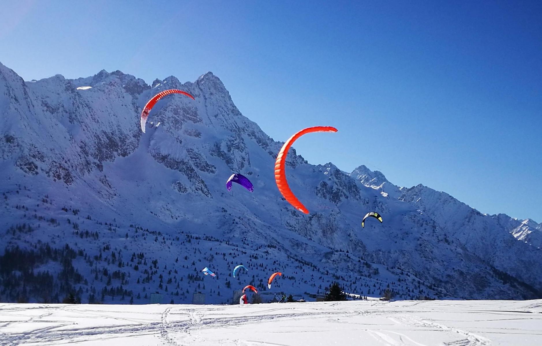 Corso di snowkite in coppia sul Passo del Tonale