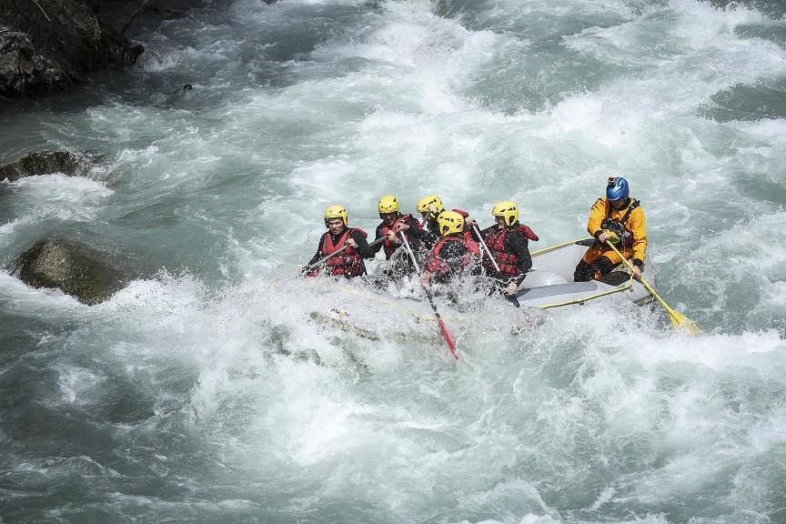 Discesa in Rafting