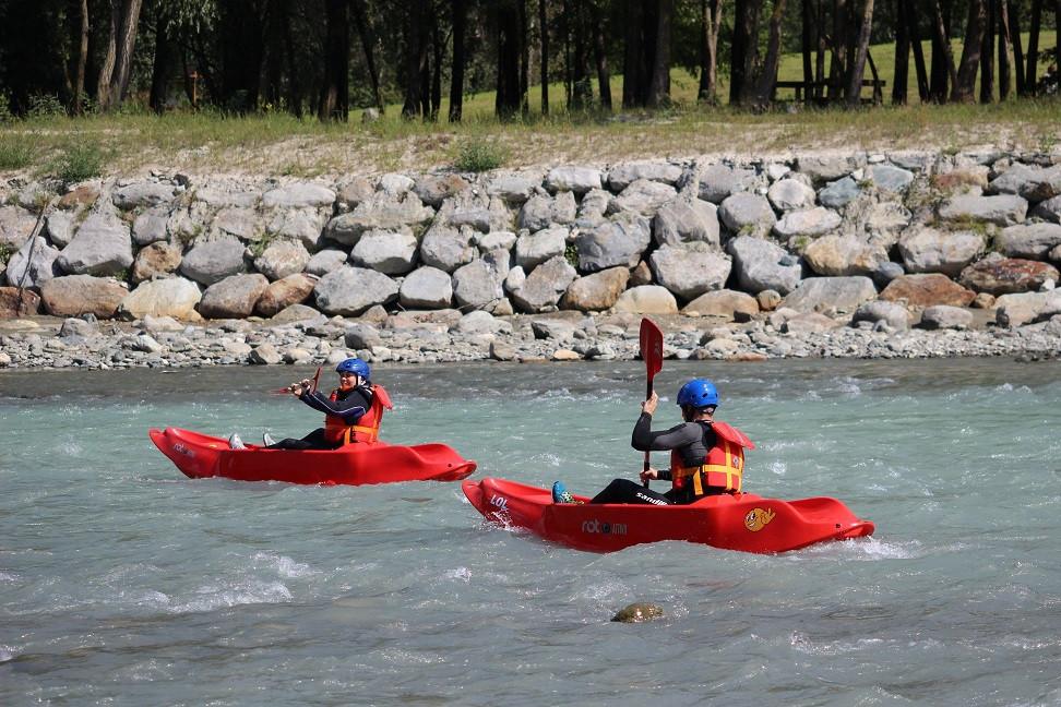 Discesa in kayak sull'Adda in Valtellina