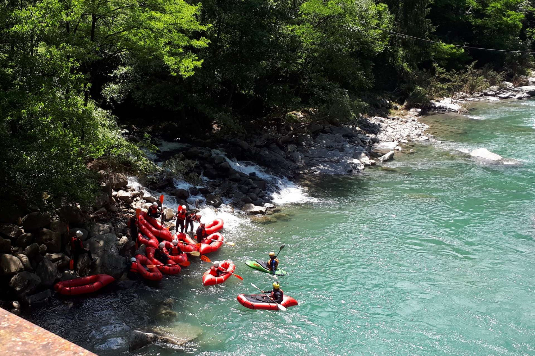 Discesa in packraft sul fiume Serchio (LU)
