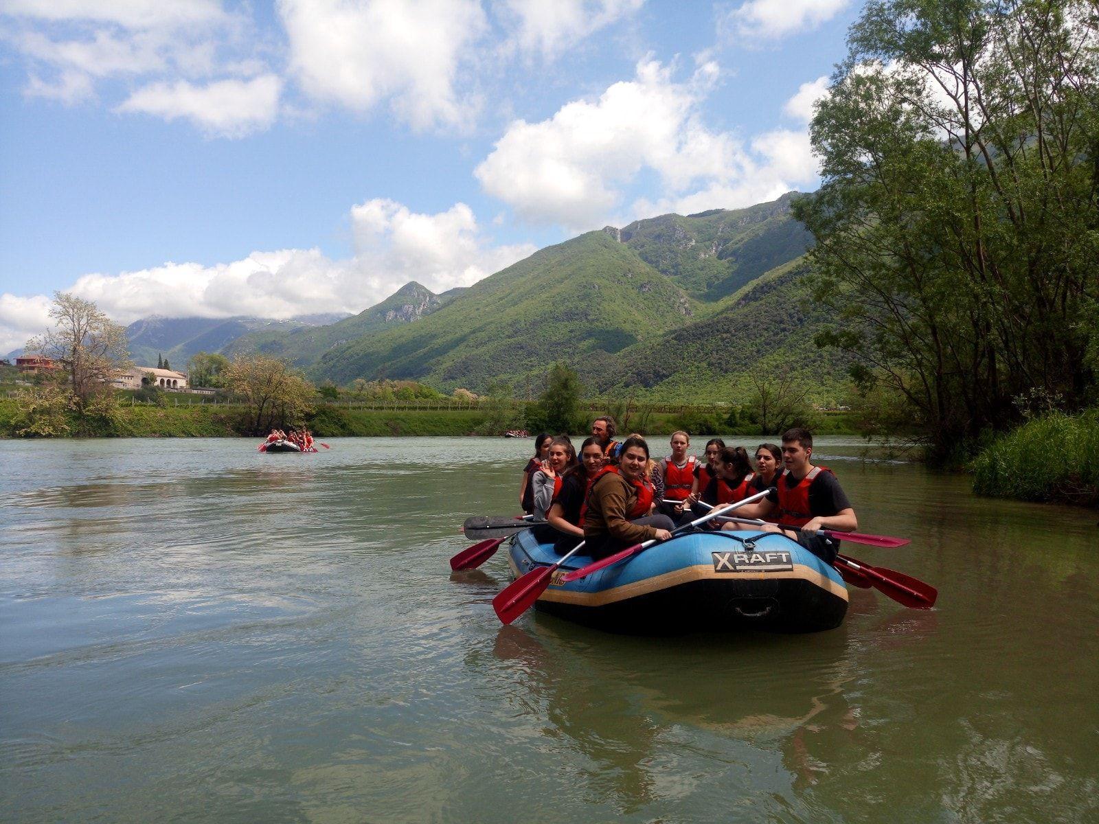 Discesa di rafting sull'Adige in Val Lagarina