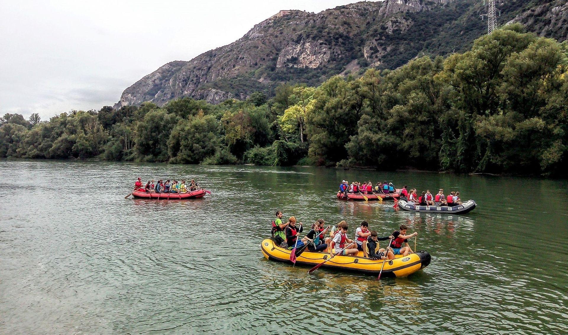 Discesa di rafting in Val d'Adige alla Chiusa di Ceraino