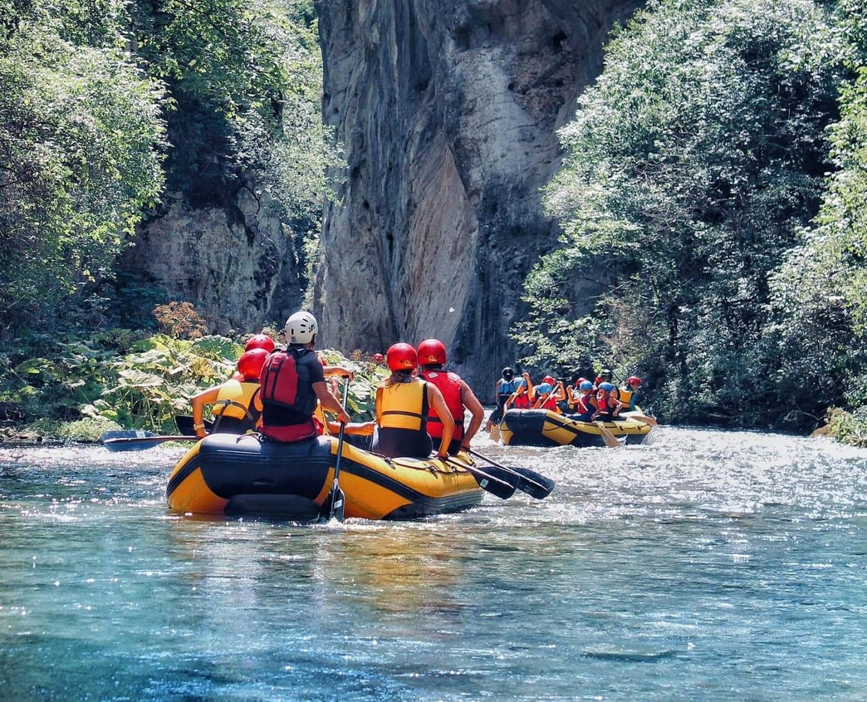 Discesa di soft rafting sul fiume Nera in Umbria