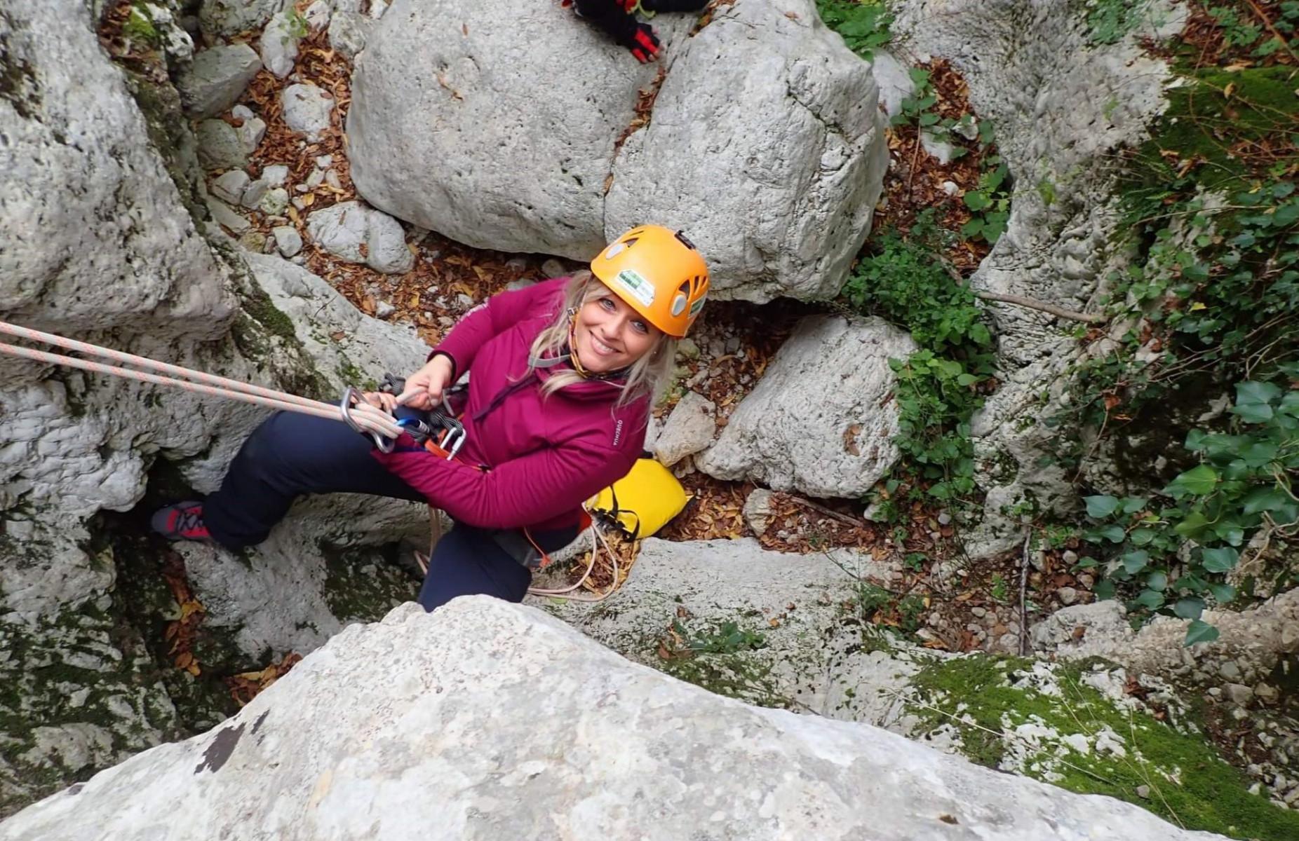Dry Canyoning Forra dei Corbezzoli sui Monti Sabini