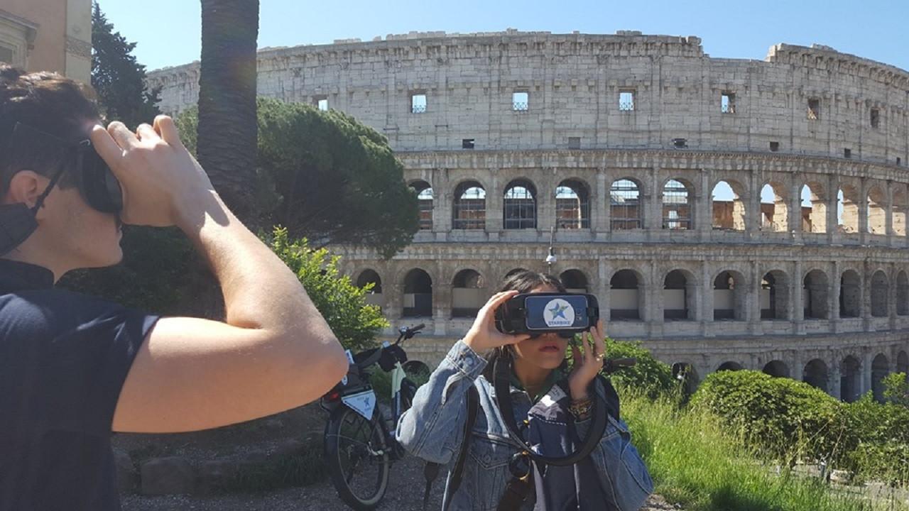 E-bike tour mattutino e visione 3D delle meraviglie di Roma