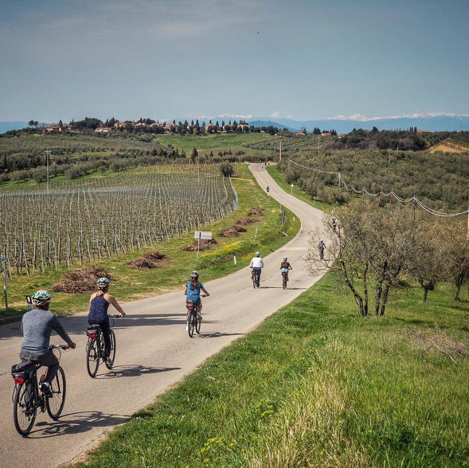E-bike tour sulle colline del Chianti e degustazione di vino