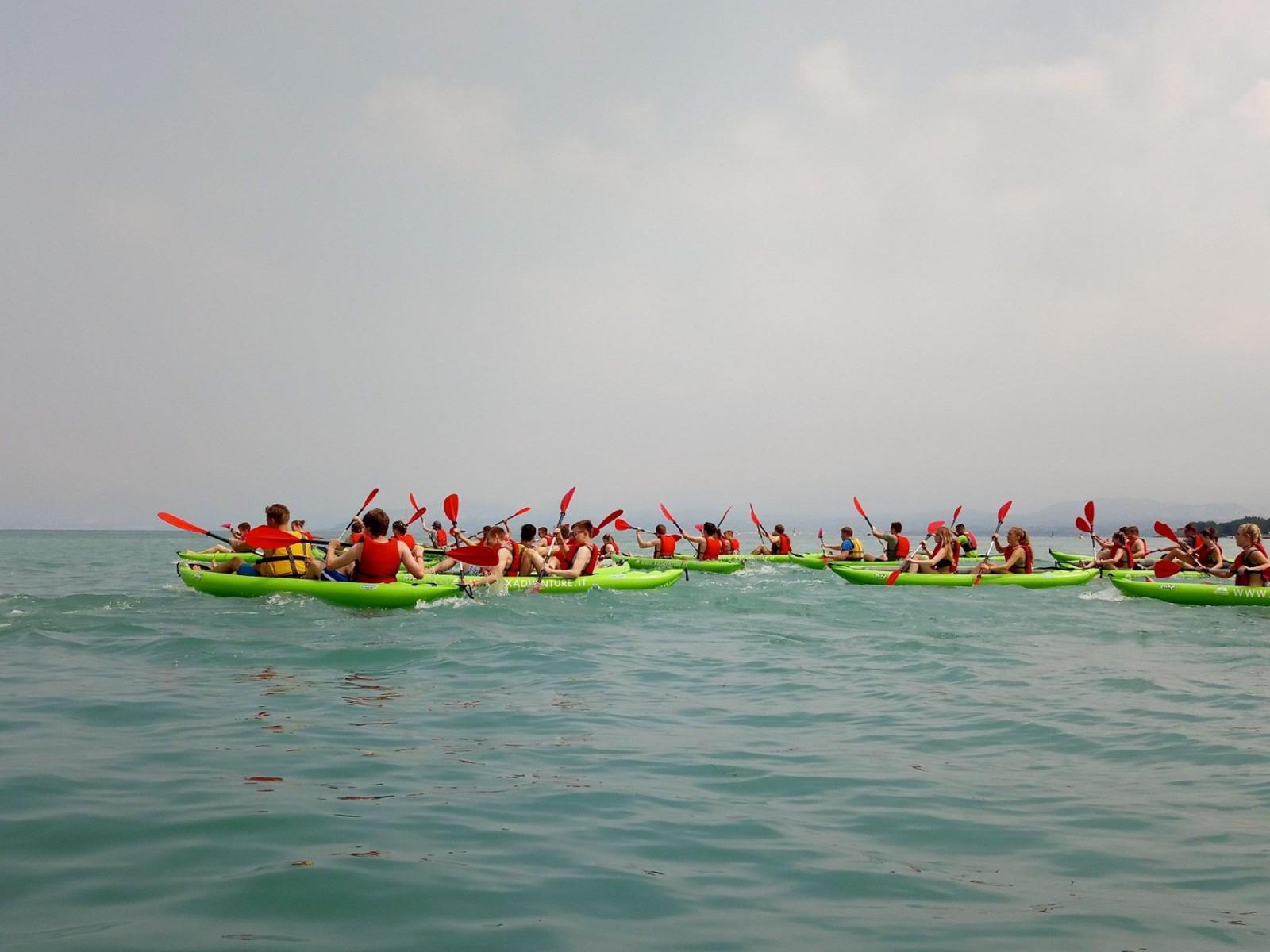 Escursione in canoa a Peschiera del Garda