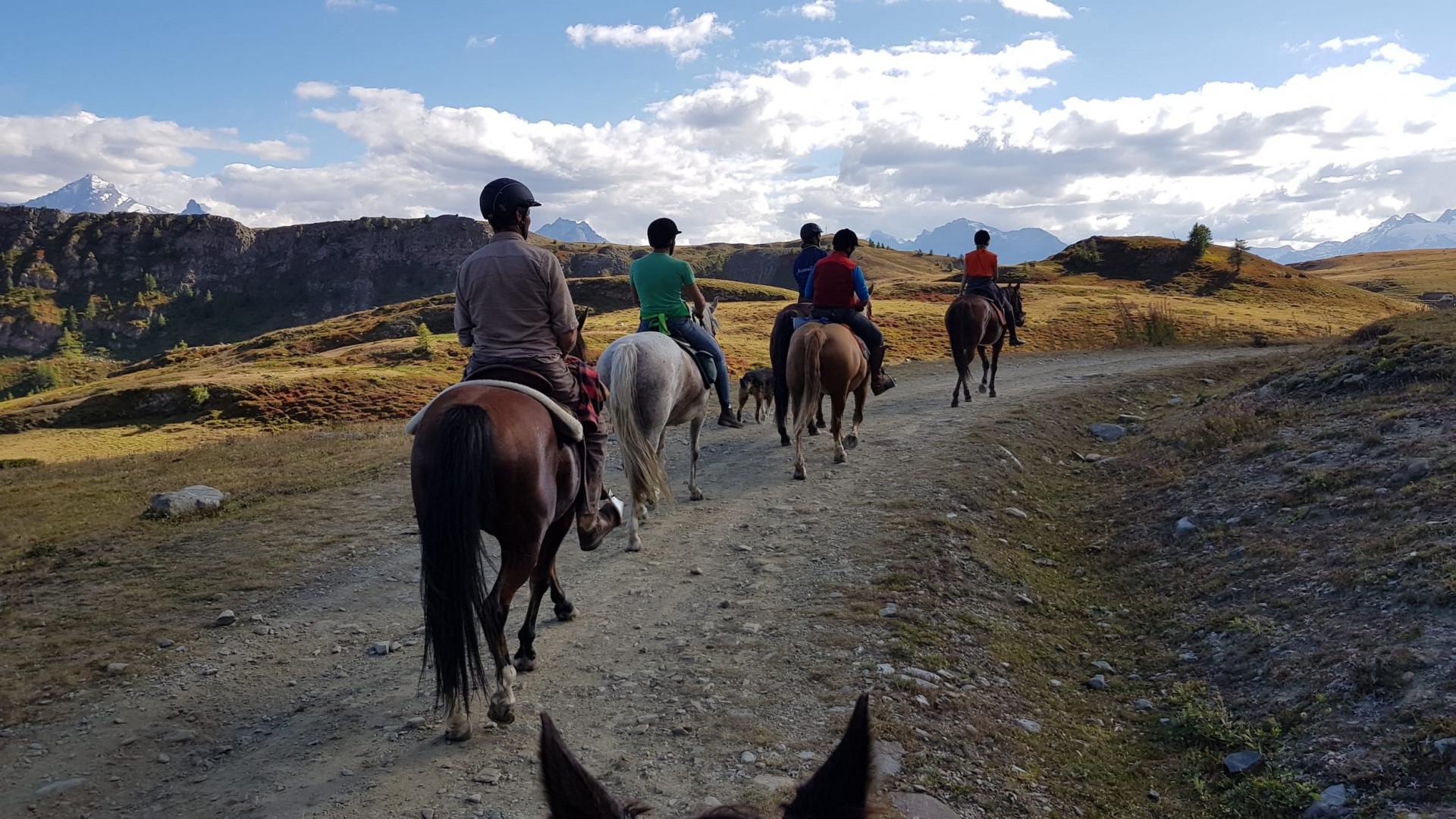 Escursione a cavallo al Rifugio Mont Fallère in Valle d'Aosta