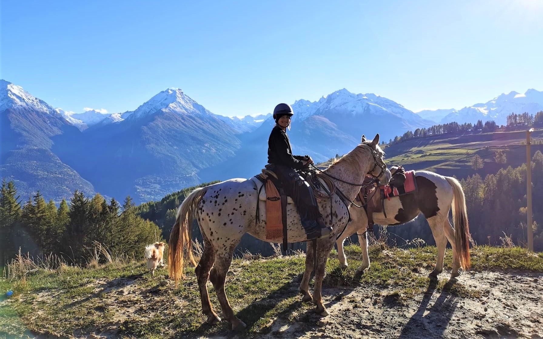 Escursione a cavallo al vallone di Vertosan in Valle d'Aosta
