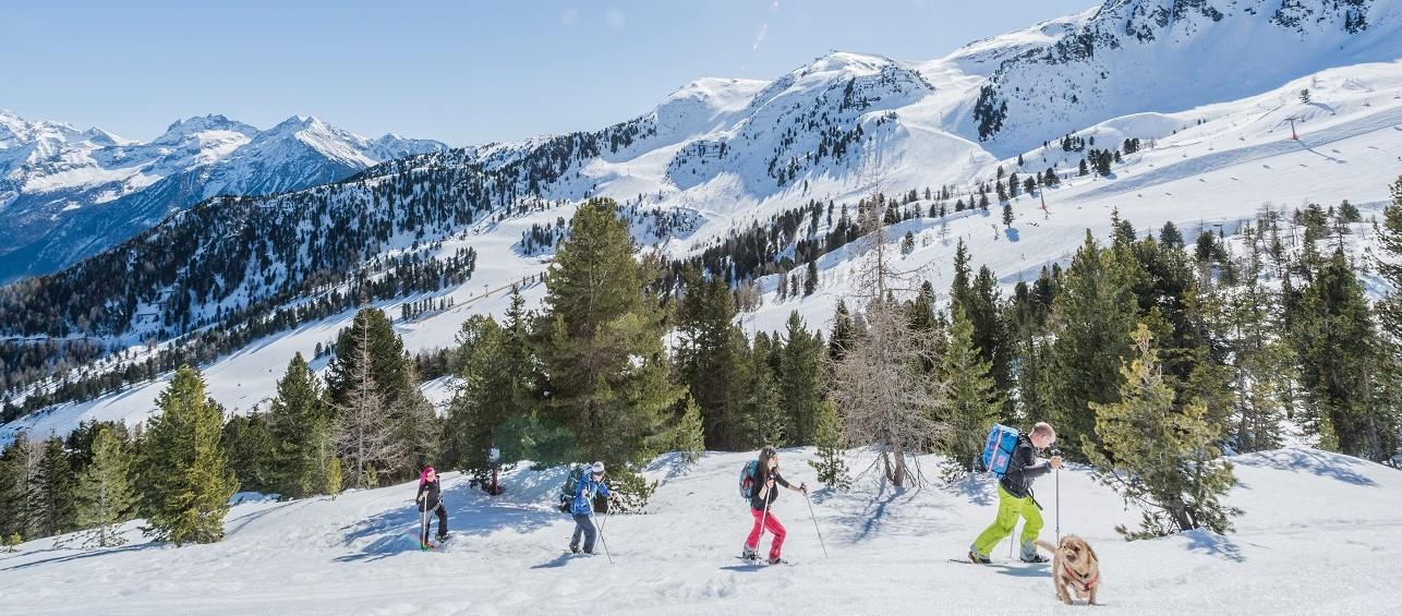 Escursione in ciaspole sullo Speikboden in Alto Adige