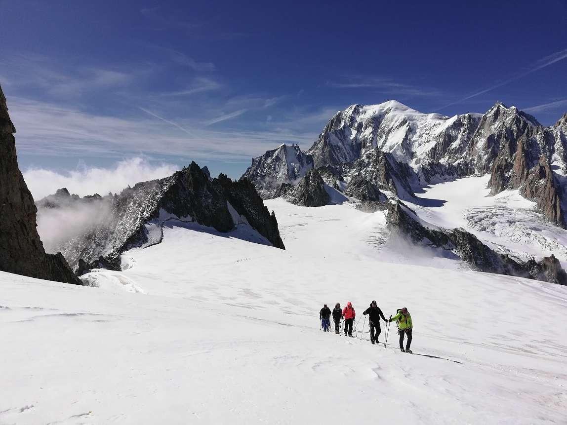 Escursione sui ghiacciai di Punta Helbronner (Monte Bianco)