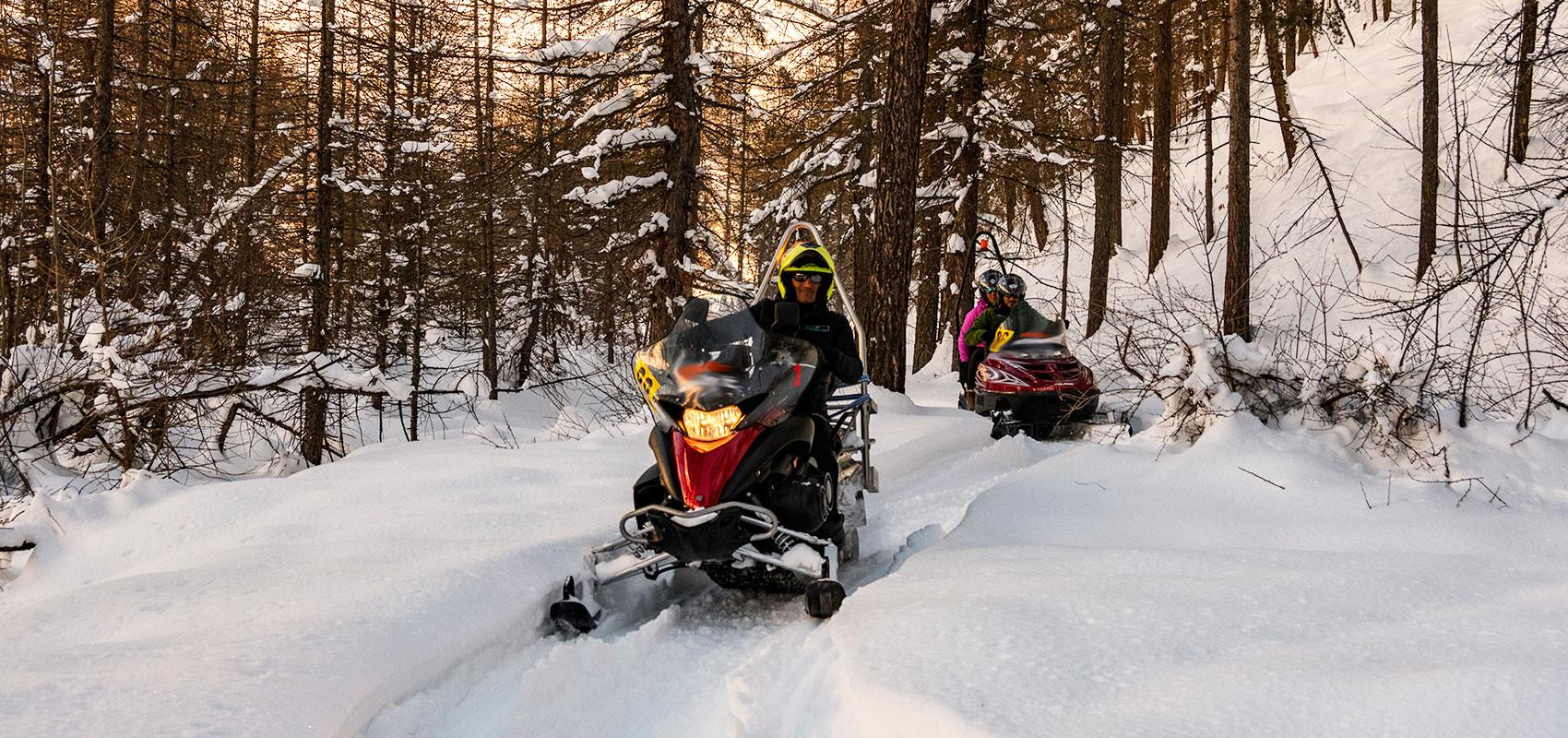 Escursione in motoslitta in Alta Val di Susa