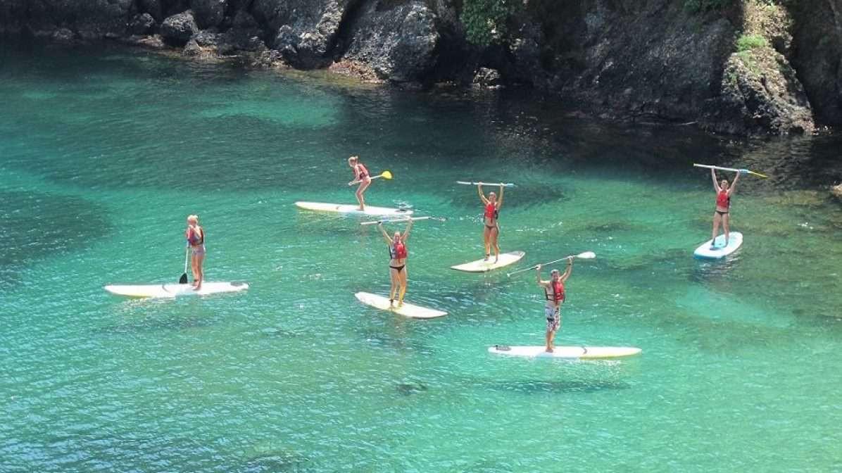 Escursione in SUP nell'area marina protetta di Portofino