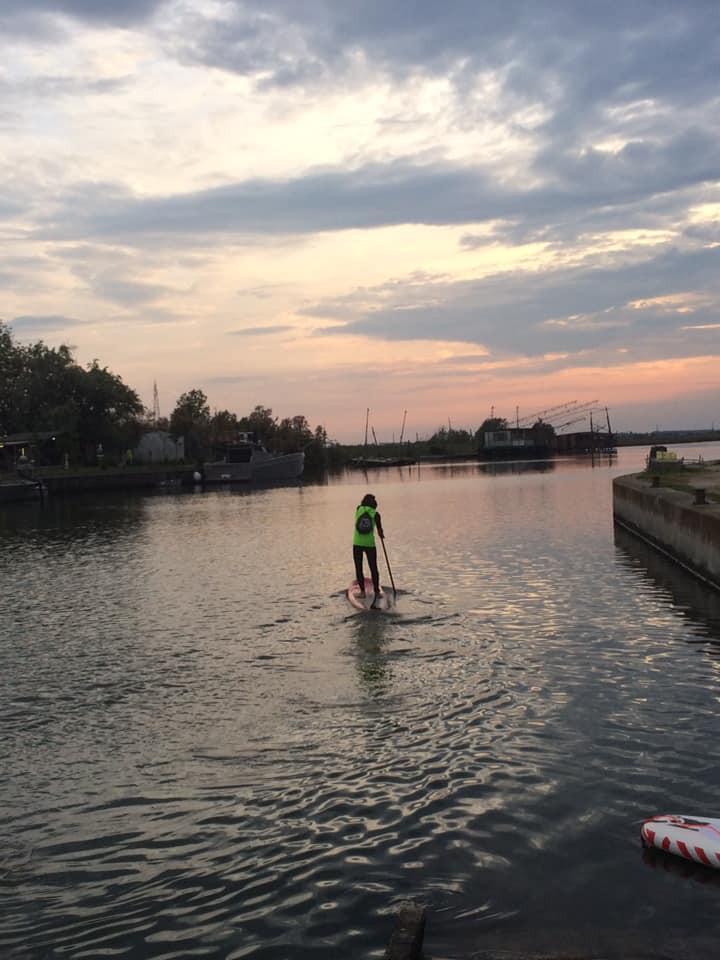 Escursione in SUP sul delta del Po