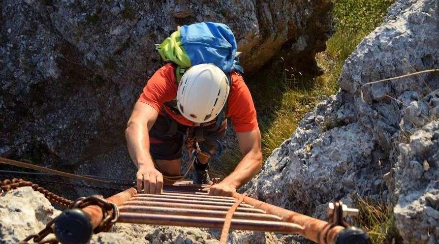 Ferrata al Monte Procinto sulle Alpi Apuane
