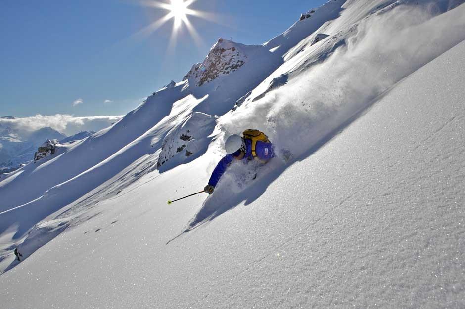 Giornata di sci freeride sulle Dolomiti