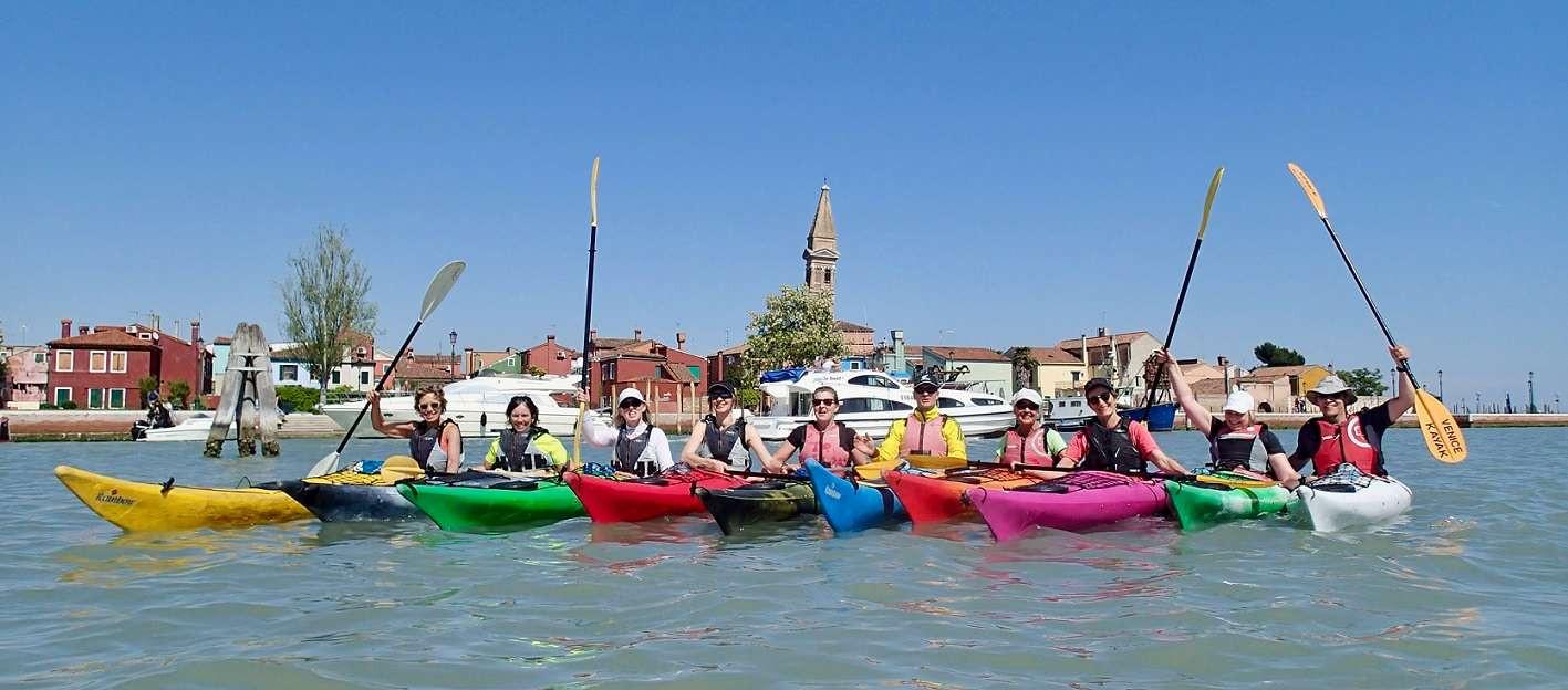 Gita giornaliera in kayak nella Laguna di Venezia