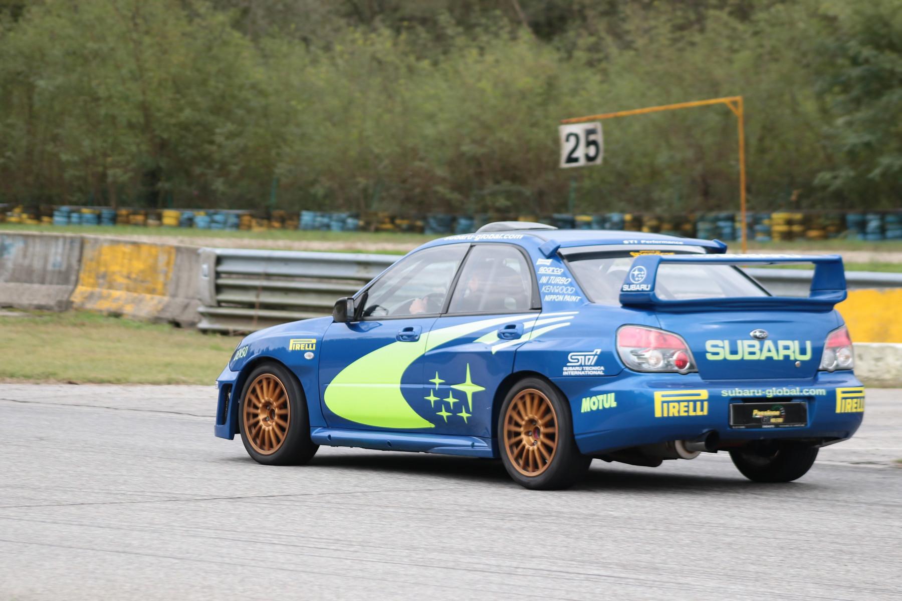 Guida sportiva in Subaru Impreza WRC al Castelletto Circuit