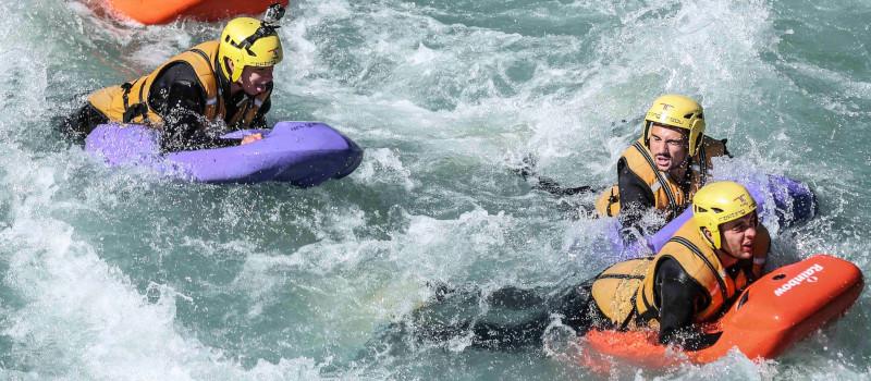 Hydrospeed per principianti sulla Dora Baltea in Valle d'Aosta