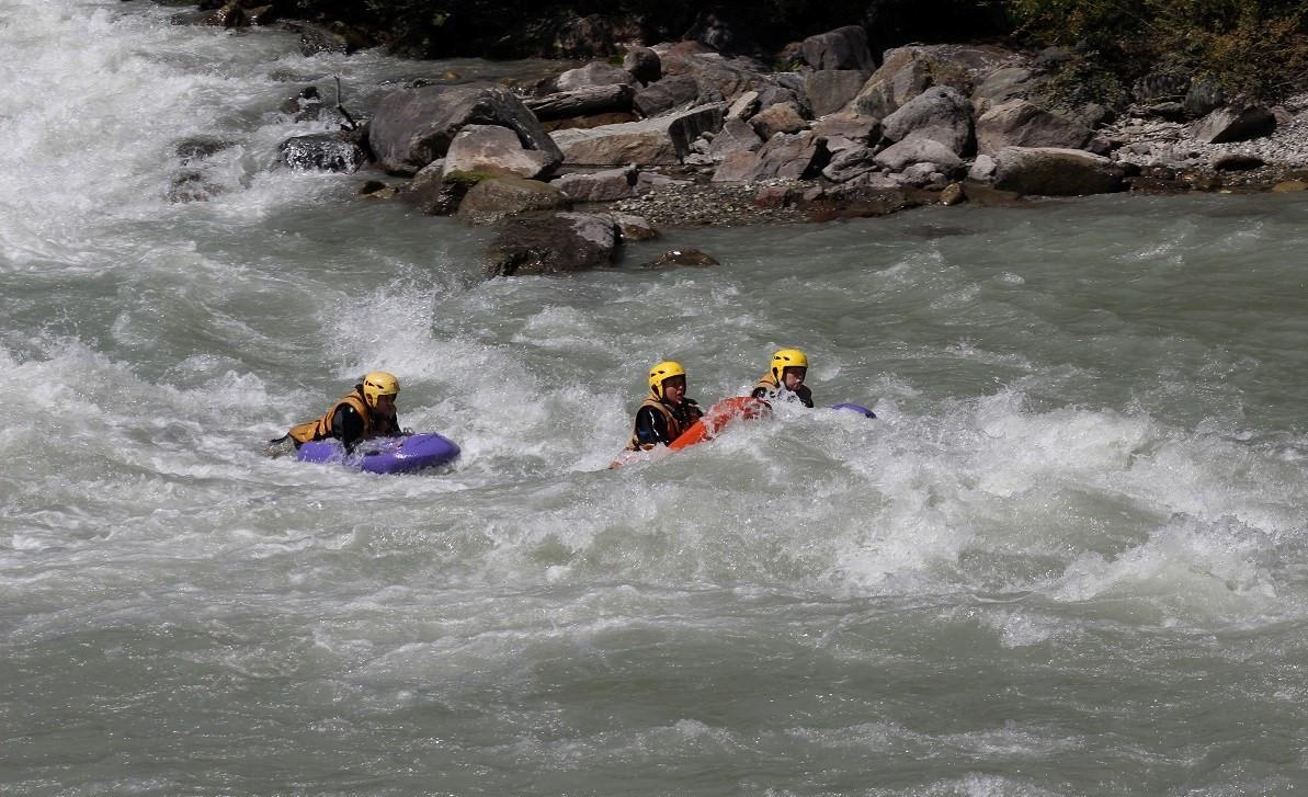 Discesa in Hydrospeed di II Livello sulla Dora Baltea in Valle d'Aosta