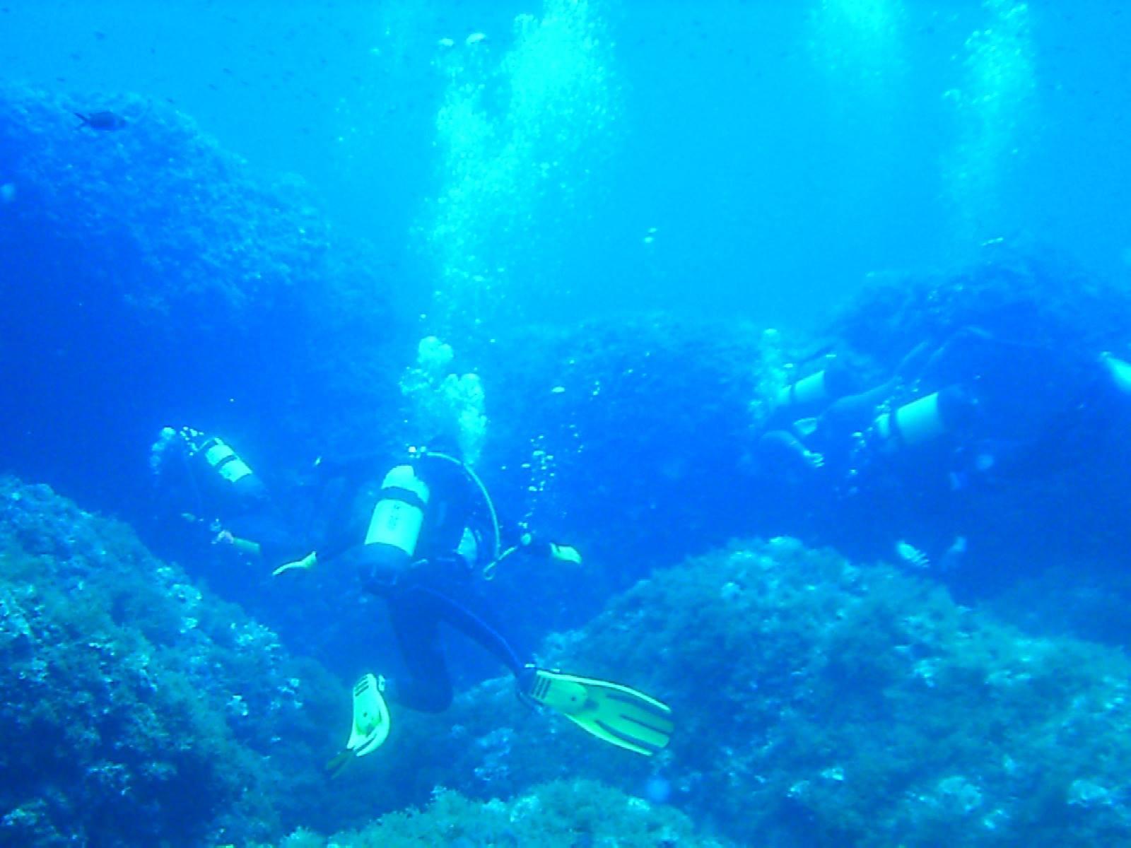 Immersione subacquea alle Piramidi di Miramare (RN)