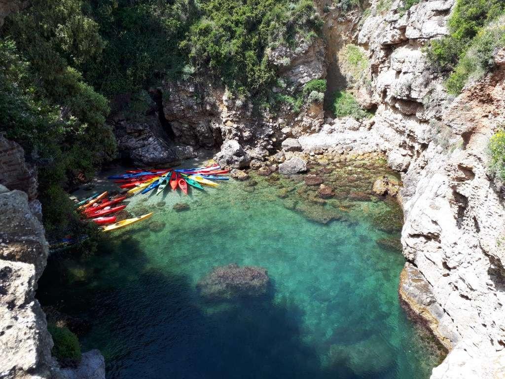 Kayak tour ai Bagni della Regina Giovanna in Costiera Sorrentina