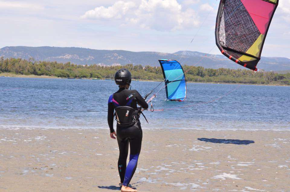 Lezione privata introduttiva di kitesurf a Ostia