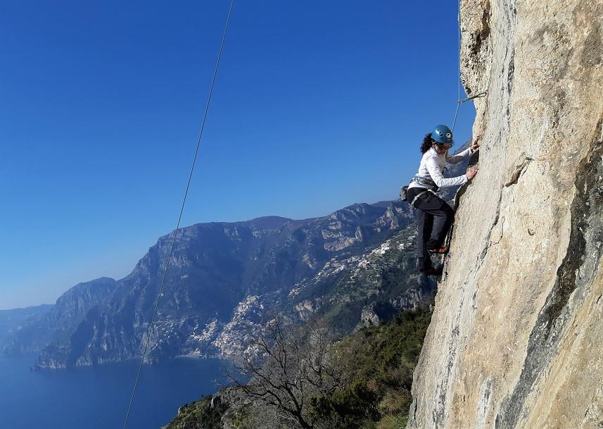Lezione di arrampicata in Costiera Amalfitana