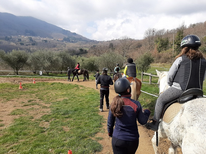 Lezione base di equitazione nel cuore della Maremma
