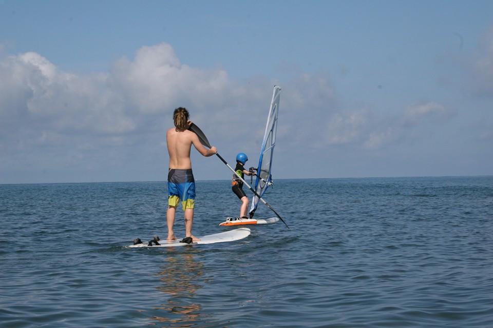 Lezione base di Windsurf a Tarquinia Lido (VT)