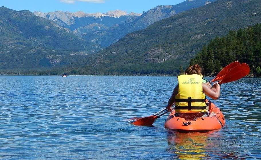 Lezione di canoa sul Lago di Cavedine